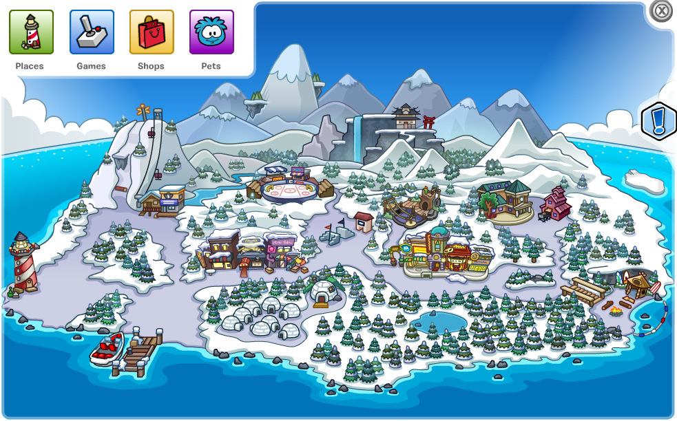 Club Penguin Map Club Penguin Map Bug! – Club Penguin Mountains
