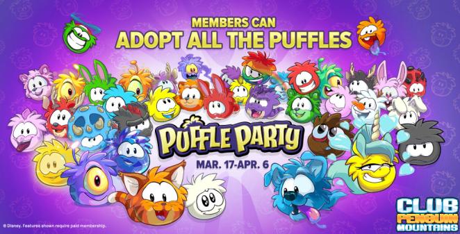 Members adopt all puffles