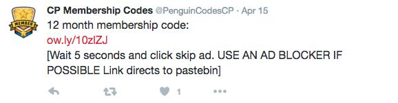 membership code