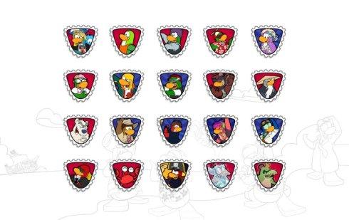 Custom mascot stamps