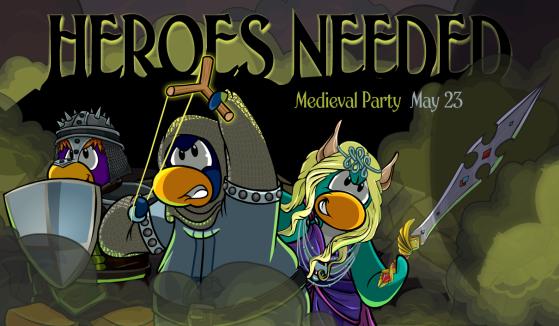 Club penguin rewritten medieval party 2019