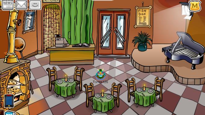 CP Rewritten: New Pizza Parlor Design – Club Penguin Mountains